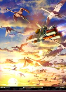 Rating: Safe Score: 8 Tags: gun gundam landscape mecha mobile_suit_gundam suzuki_kanta weapon white_base User: drop
