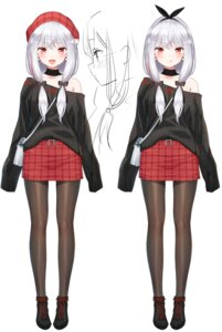 Rating: Questionable Score: 25 Tags: character_design kamiki_hasami kamiki_hasami_channel megane pantyhose sketch sweater yasuyuki User: zyll