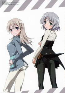 Rating: Questionable Score: 15 Tags: ass eila_ilmatar_juutilainen pantyhose sanya_v_litvyak stitchme strike_witches takamura_kazuhiro uniform User: Nepcoheart