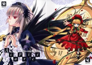 Rating: Safe Score: 4 Tags: crease lolita_fashion quarter_view rozen_maiden shinku suigintou watari_shinji User: Lore