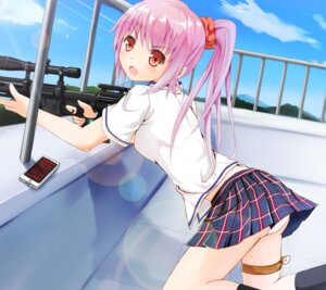 Rating: Questionable Score: 53 Tags: garter gun ok-ray pantsu seifuku User: Sanderu