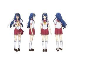 Rating: Safe Score: 9 Tags: breast_hold character_design hatano_kanna heels kono_yo_no_hate_de_koi_wo_utau_shoujo_yu-no seifuku skirt_lift tagme User: saemonnokami
