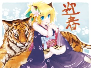Rating: Safe Score: 9 Tags: animal_ears kimono wallpaper yukitaro User: Nekotsúh