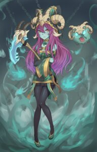 Rating: Safe Score: 28 Tags: animal_ears horns league_of_legends lulu_(league_of_legends) pantyhose sakimeikun-daze thresh_(league_of_legends) weapon User: Mr_GT
