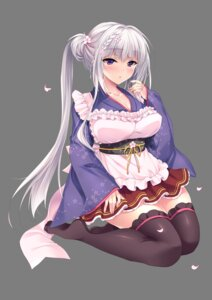 Rating: Safe Score: 32 Tags: cleavage maid ninoko ninokoya ouse_shino shoujo_kaishun thighhighs wa_maid User: kiyoe