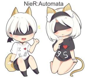 Rating: Safe Score: 23 Tags: animal_ears chibi nier_automata tachibana_(16700831) tail yorha_no.2_type_b yorha_no._9_type_s User: mash