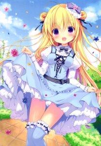 Rating: Questionable Score: 20 Tags: canvas+garden dress miyasaka_miyu pantsu skirt_lift tagme thighhighs User: lightsnow