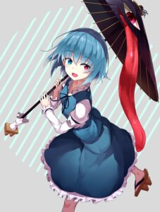 Rating: Safe Score: 25 Tags: heterochromia hide448 tatara_kogasa touhou umbrella User: RyuZU