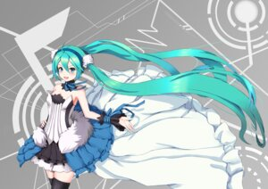 Rating: Safe Score: 61 Tags: 7th_dragon 7th_dragon_2020 cleavage dress hatsune_miku sugar_sound thighhighs vocaloid User: Dakedo
