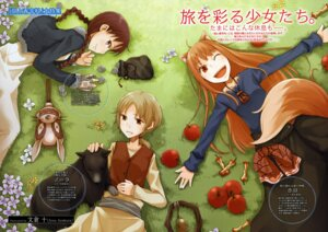 Rating: Safe Score: 7 Tags: animal_ears ayakura_juu chloe holo nora_ardent spice_and_wolf tail User: vita