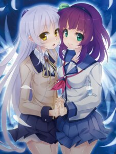 Rating: Safe Score: 26 Tags: angel_beats! kujou_ichiso seifuku tenshi yurippe User: Radioactive