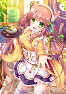 Rating: Safe Score: 47 Tags: animal_ears maid moe2015 nekomimi shitou tail wa_maid waitress User: Mr_GT