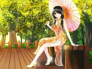 Rating: Safe Score: 65 Tags: chinadress cleavage date_a_live heels heterochromia john_117 tokisaki_kurumi umbrella User: pikeng89