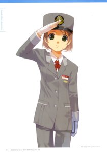 Rating: Safe Score: 3 Tags: ishida_aiko mibu_natsuki tetsudou_musume uniform User: fireattack