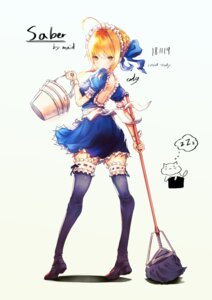 Rating: Safe Score: 23 Tags: dd9_p9 fate/stay_night garter maid saber skirt_lift tagme thighhighs User: saemonnokami