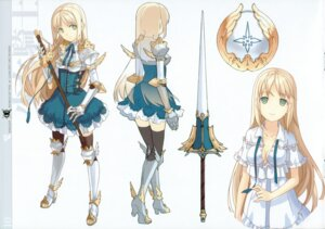 Rating: Safe Score: 51 Tags: armor cleavage h2so4 island_of_horizon sword thighhighs undressing User: Share