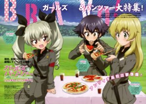Rating: Safe Score: 23 Tags: anchovy carpaccio girls_und_panzer pepperoni sugimoto_isao uniform User: drop
