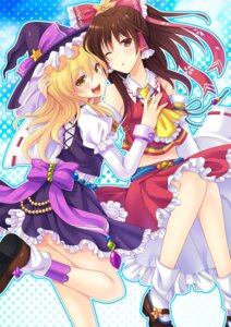 Rating: Safe Score: 22 Tags: hakurei_reimu kirisame_marisa soraeda touhou witch User: Mr_GT