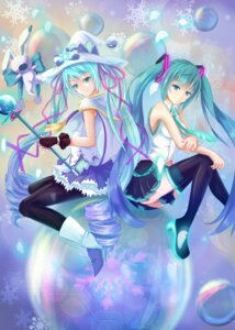 Rating: Questionable Score: 35 Tags: ass bakanoe hatsune_miku heels nopan pantyhose thighhighs vocaloid weapon witch yuki_miku User: sylver650