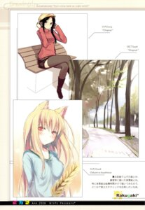 Rating: Safe Score: 17 Tags: animal_ears holo mizoguchi_keiji ntype spice_and_wolf tail thighhighs User: airsakura