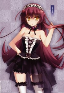Rating: Safe Score: 80 Tags: cleavage dress gothic_lolita lolita_fashion thighhighs yasaka_minato User: blooregardo