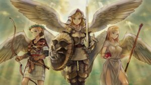 Rating: Safe Score: 29 Tags: armor dragon's_crown dress no_bra noma_takafumi sword weapon wings User: Radioactive
