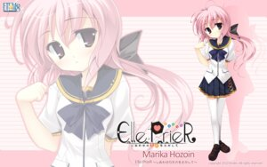 Rating: Safe Score: 16 Tags: elle_prier etoiles hozoin_marika seifuku thighhighs wallpaper User: maurospider