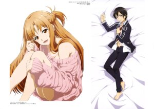 Rating: Questionable Score: 36 Tags: asuna_(sword_art_online) bottomless cleavage dakimakura habe_takashi kirito no_bra seifuku suzuki_kanta sweater sword_art_online User: drop