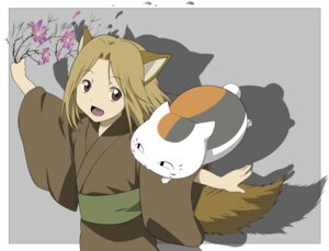 Rating: Safe Score: 5 Tags: animal_ears kitsune kogitsune natsume_yuujinchou nyanko tail vector_trace yukata User: charunetra