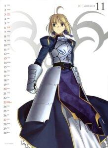 Rating: Safe Score: 11 Tags: calendar fate/stay_night saber takeuchi_takashi type-moon User: SubaruSumeragi