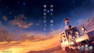 Rating: Safe Score: 27 Tags: bokura_no_ue_ni_sora_wa_mawaru mojirow polarstar seifuku wallpaper User: blooregardo