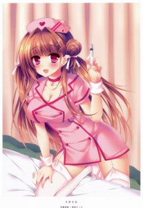 Rating: Safe Score: 60 Tags: cleavage nurse sorai_shinya stockings thighhighs User: YamatoBomber