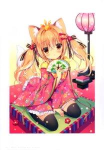 Rating: Safe Score: 12 Tags: animal_ears canvas+garden hiyori japanese_clothes kitsune miyasaka_miyu tail thighhighs User: lightsnow