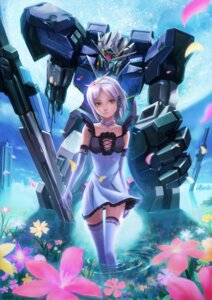 Rating: Questionable Score: 38 Tags: 00_gundam anthropomorphization dress gundam gundam_00 mecha no_bra pantsu sword thighhighs zhenlin User: fireattack