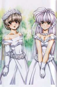 Rating: Safe Score: 18 Tags: binding_discoloration cleavage dress urushihara_satoshi wedding_dress User: GP