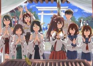 Rating: Safe Score: 31 Tags: admiral_(kancolle) akagi_(kancolle) akatsuki_(kancolle) haruna_(kancolle) hibiki_(kancolle) hiei_(kancolle) ikazuchi_(kancolle) inazuma_(kancolle) japanese_clothes kaga_(kancolle) kantai_collection kikyou_(kiss-shot) kirishima_(kancolle) kitakami_(kancolle) kongou_(kancolle) megane miko ooi_(kancolle) seifuku thighhighs yamato_(kancolle) yukikaze_(kancolle) User: Mr_GT