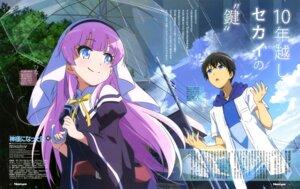 Rating: Safe Score: 13 Tags: kamisama_ni_natta_hi narukami_youta nii_manabu nun satou_hina_(kamisama_ni_natta_hi) seifuku umbrella User: drop