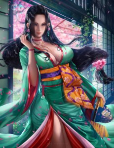 Rating: Safe Score: 25 Tags: boa_hancock cleavage kimono no_bra one_piece open_shirt umbrella User: hkr008
