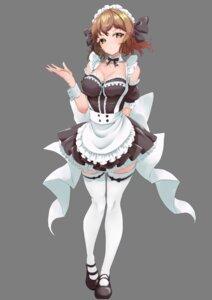 Rating: Safe Score: 20 Tags: akisuko cleavage maid senki_zesshou_symphogear tachibana_hibiki thighhighs User: BattlequeenYume