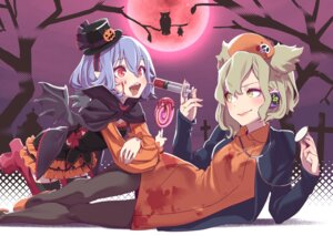 Rating: Safe Score: 7 Tags: blood halloween heels kawayabug nurse pantyhose pointy_ears remilia_scarlet stockings thighhighs touhou toyosatomimi_no_miko wings User: Mr_GT