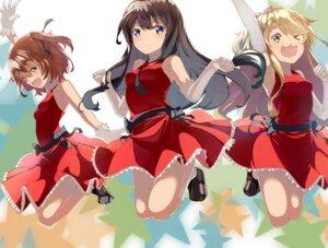 Rating: Safe Score: 21 Tags: dress himesaka_noa hoshino_hinata shirosaki_hana skirt_lift tagme watashi_ni_tenshi_ga_maiorita! User: saemonnokami