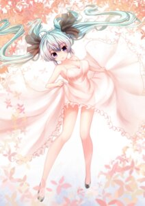 Rating: Safe Score: 61 Tags: cleavage dress hatsune_miku heels no_bra see_through skirt_lift vocaloid zheyi_parker User: mash