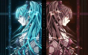Rating: Safe Score: 69 Tags: hatsune_miku tid vocaloid wallpaper zatsune_miku User: blooregardo