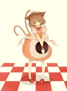 Rating: Safe Score: 10 Tags: animal_ears chen momokan nekomimi tail touhou waitress User: charunetra
