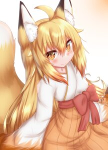 Rating: Safe Score: 9 Tags: animal_ears horokusa japanese_clothes kitsune tail User: dick_dickinson