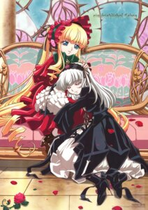 Rating: Safe Score: 15 Tags: kasugai_hiroyuki lolita_fashion rozen_maiden shinku suigintou User: Radioactive