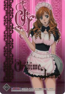 Rating: Safe Score: 13 Tags: bleach card inoue_orihime maid thighhighs User: DAHD