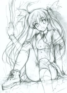 Rating: Safe Score: 4 Tags: monochrome odawara_hakone seifuku sketch User: petopeto