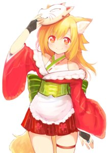 Rating: Safe Score: 46 Tags: animal_ears garter japanese_clothes naomi_(sekai_no_hate_no_kissaten) tail User: Mr_GT