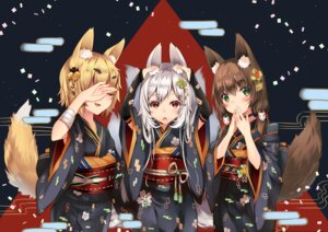 Rating: Safe Score: 42 Tags: animal_ears duji_amo kimono tail User: fairyren
